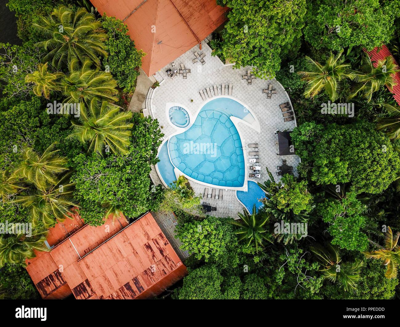 Aninga Evergreen Lodge, Guesthouse-Tortuguero National Park, Costa Rica Stock Photo