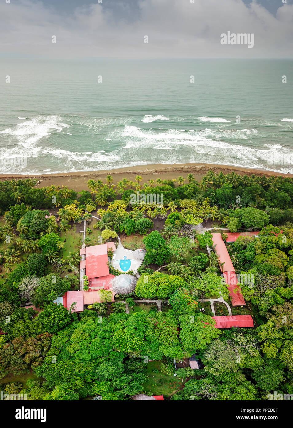 Aninga Evergreen Lodge, Guesthouse-Tortuguero National Park, Costa Rica - Stock Image