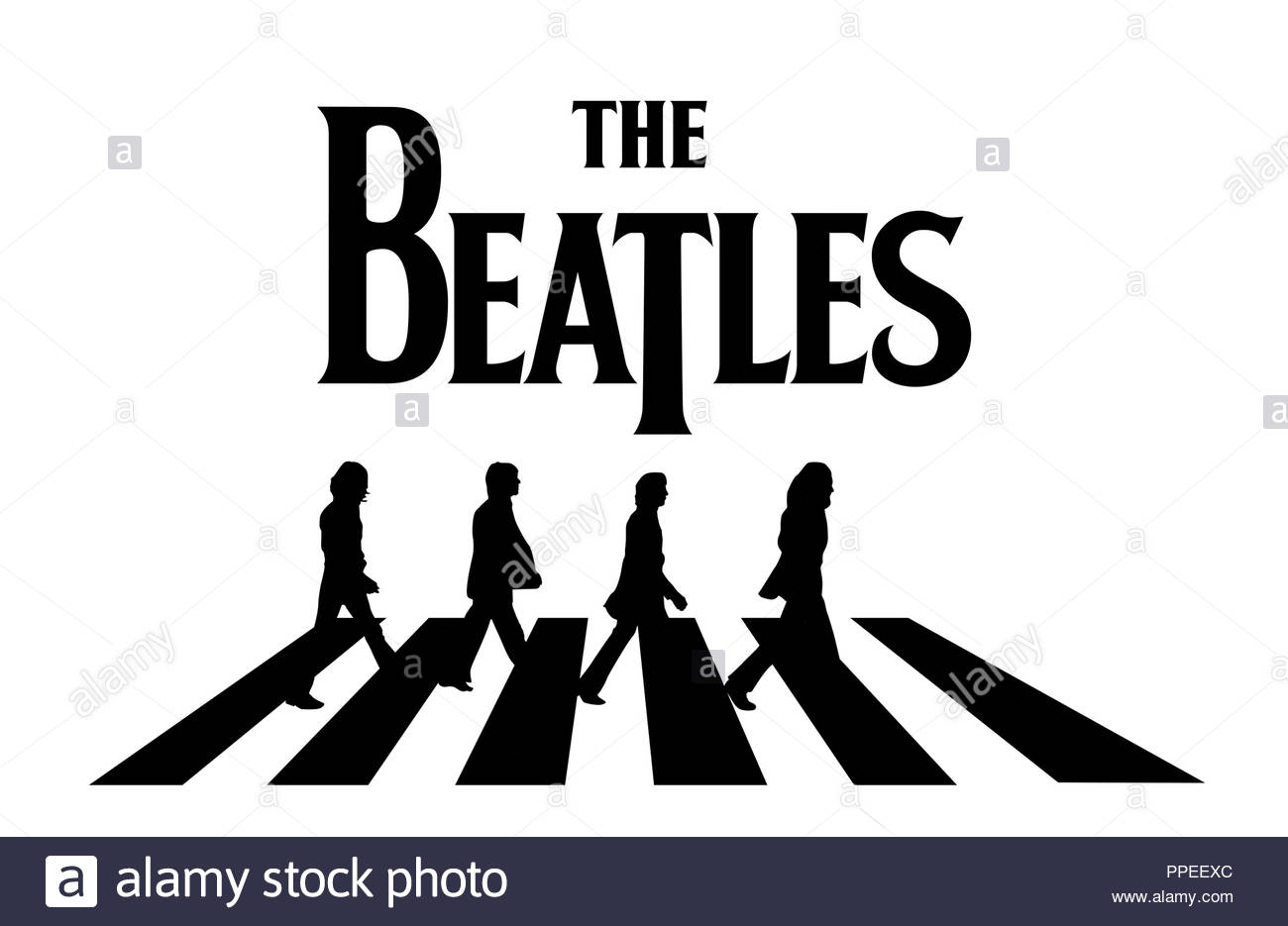 The Beatles - Abbey road sign - Stock Image