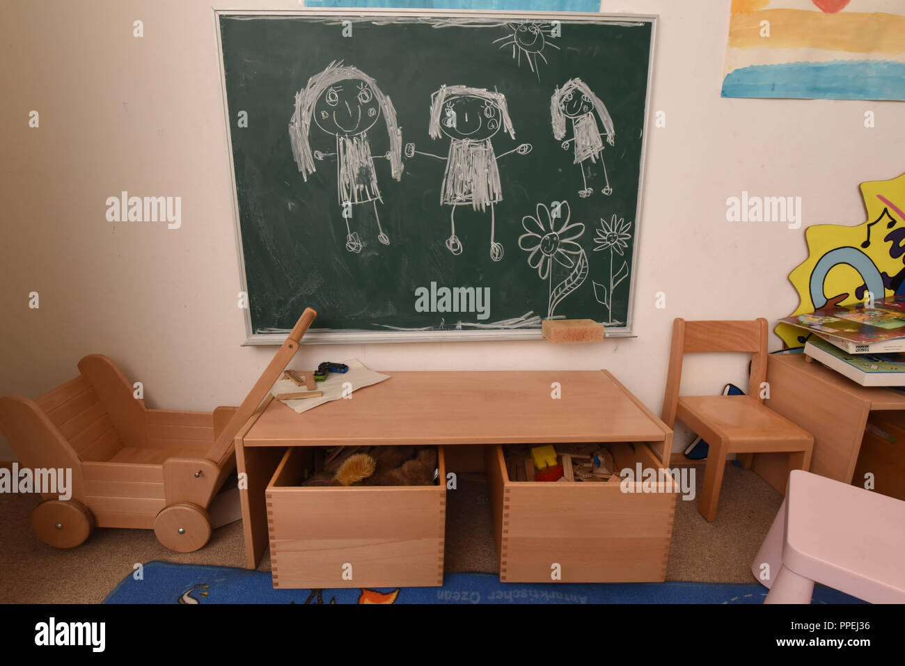 "The housing project ""Mirembe"" of the Munich association Imma (Initiative for Munich Girls) provides shelter for female refugees and their children. Stock Photo"
