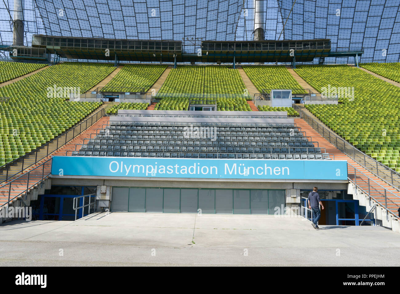 Stand In The Olympic Stadium In The Olympic Park In Munich Stock Photo Alamy