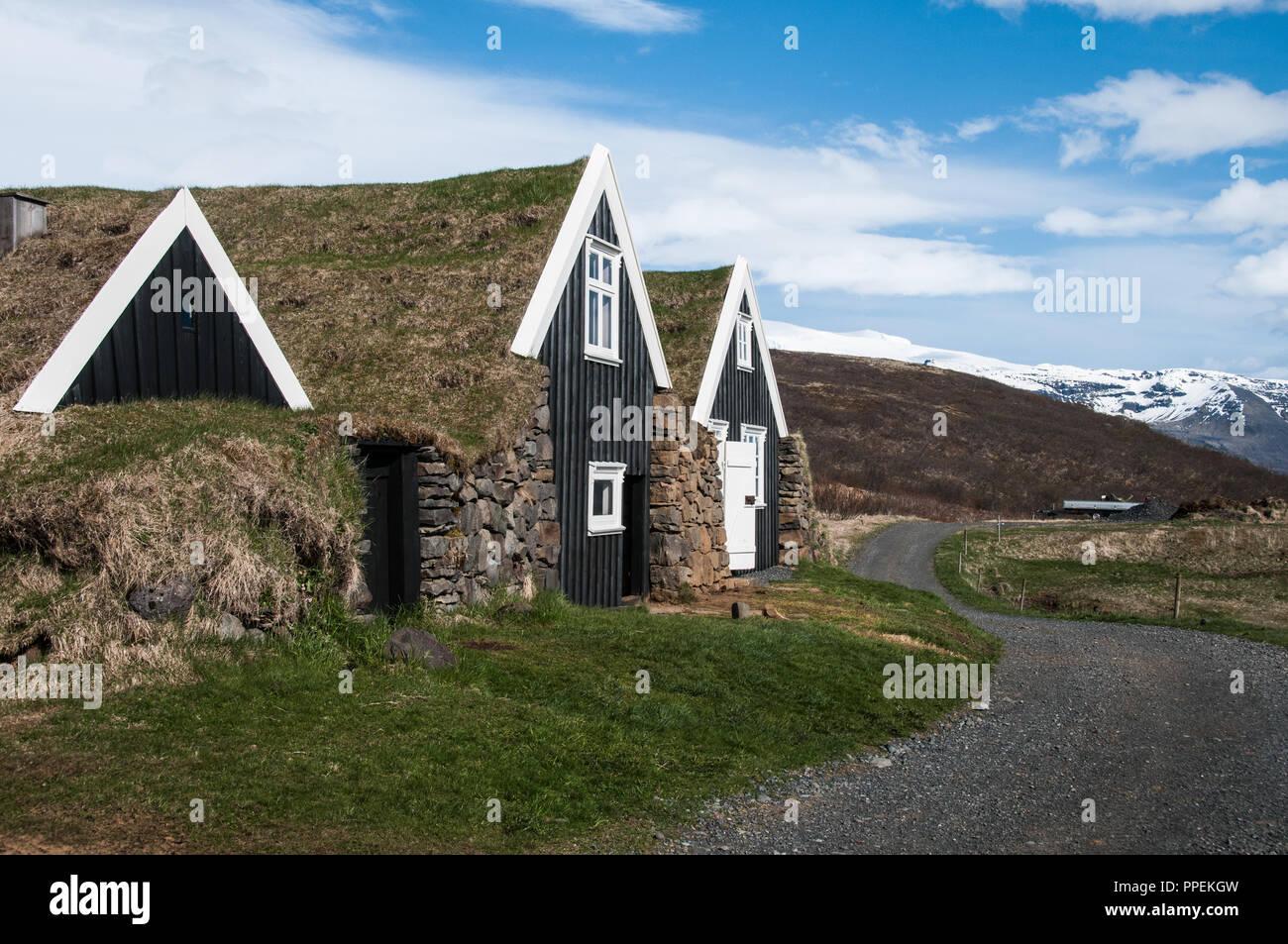 Old Farmhouse in Sel, Skaftafel - Stock Image