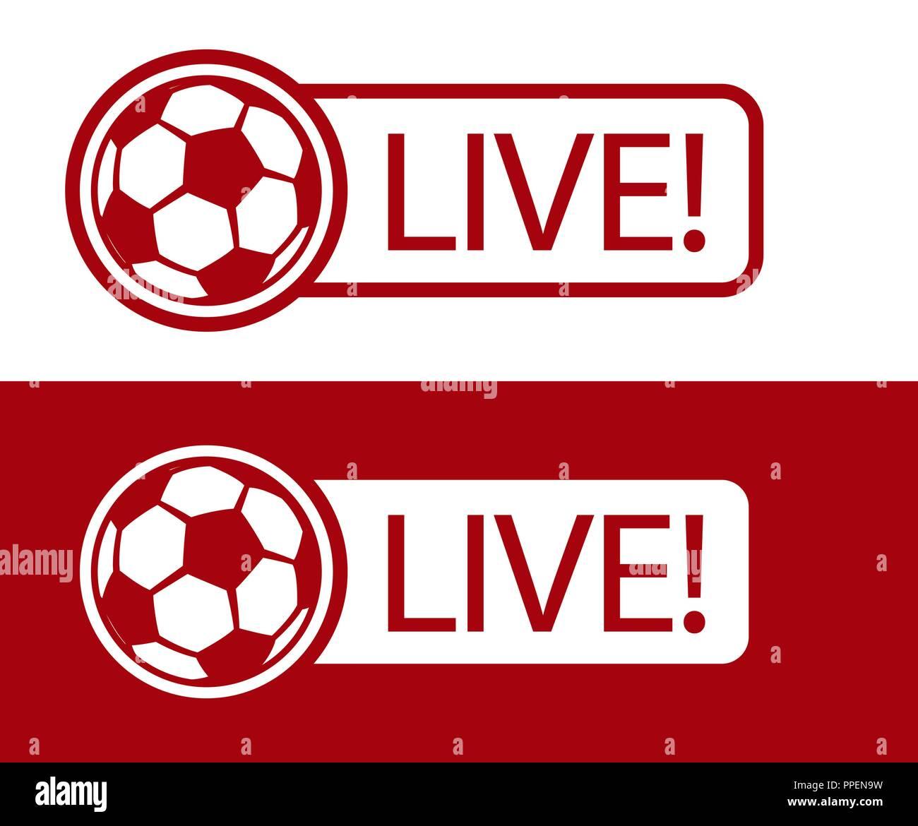 Football Match Live Broadcast Icon Vector Illustration Sport Tv