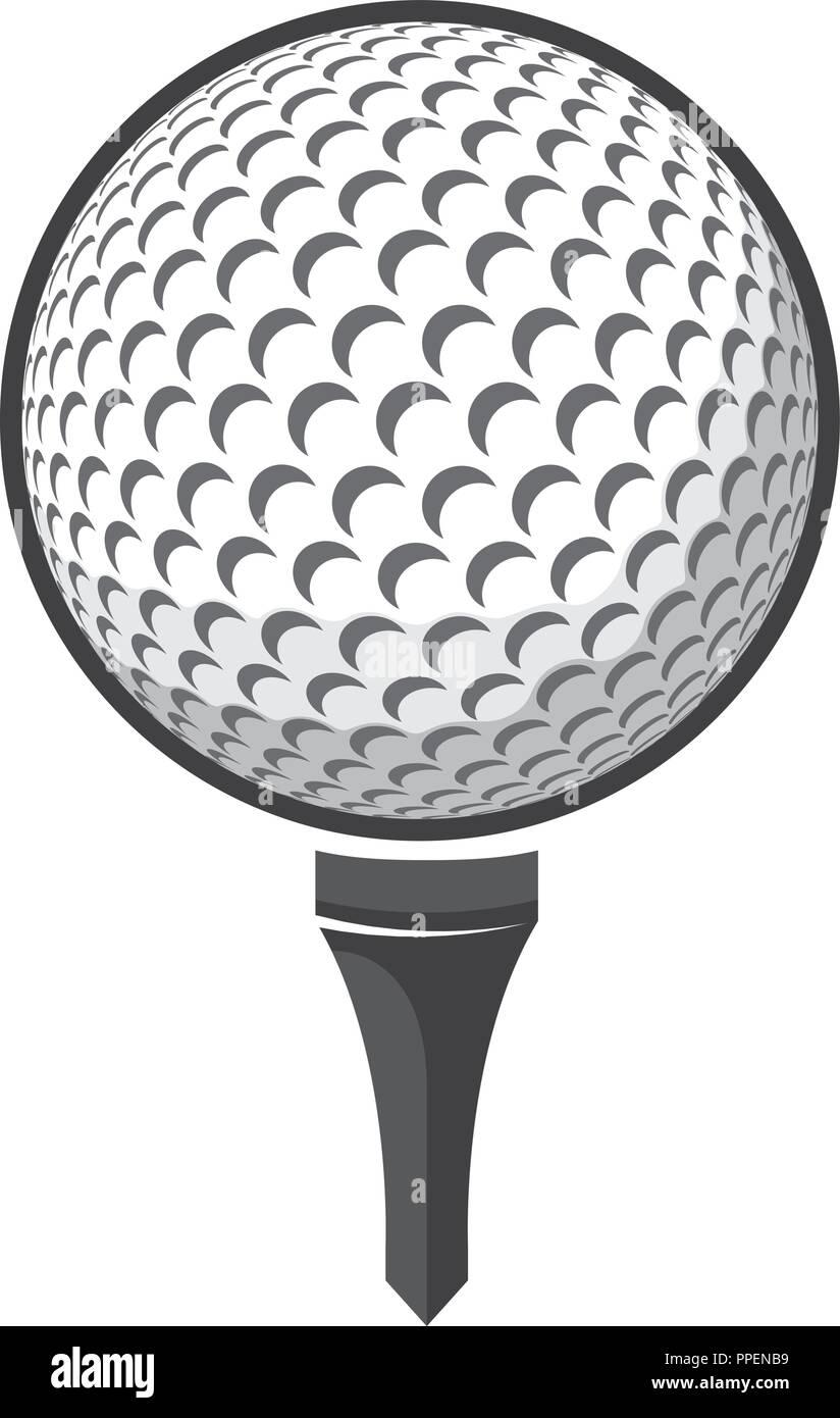 Ball Golf Vector Isolated On White Background Logo Golf Stock Vector Image Art Alamy