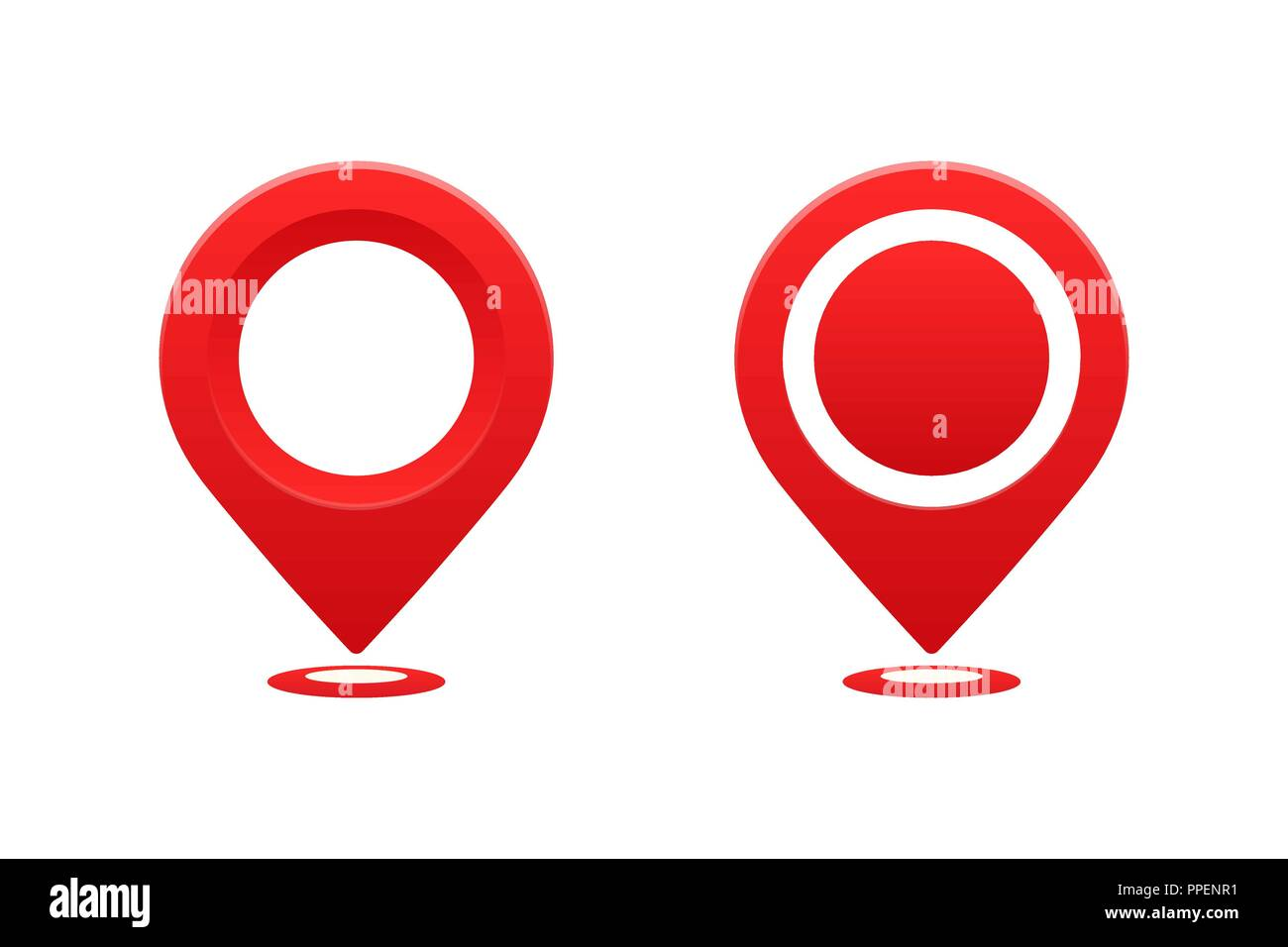 Map Pointer Icon Pin Icon Location Sign Mark Icon: Pinpoint Stock Vector Images