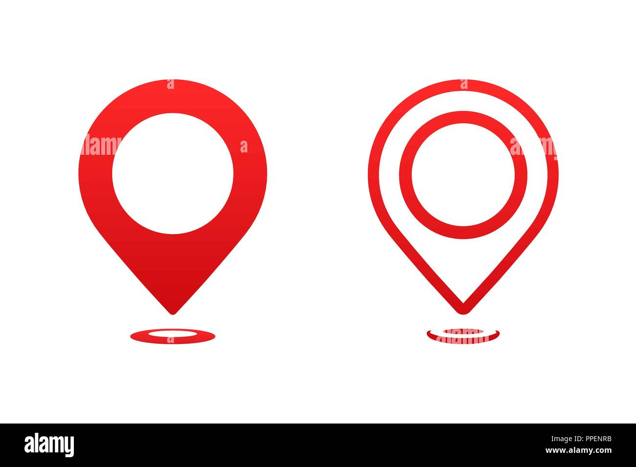 Icons map pointer. Pointer pin marker for travel place vector illustration. GPS navigation. - Stock Image