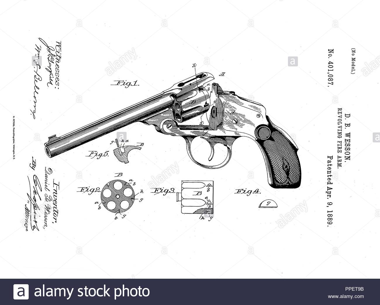Police revolver cal .38 Smith & Wesson - Stock Image