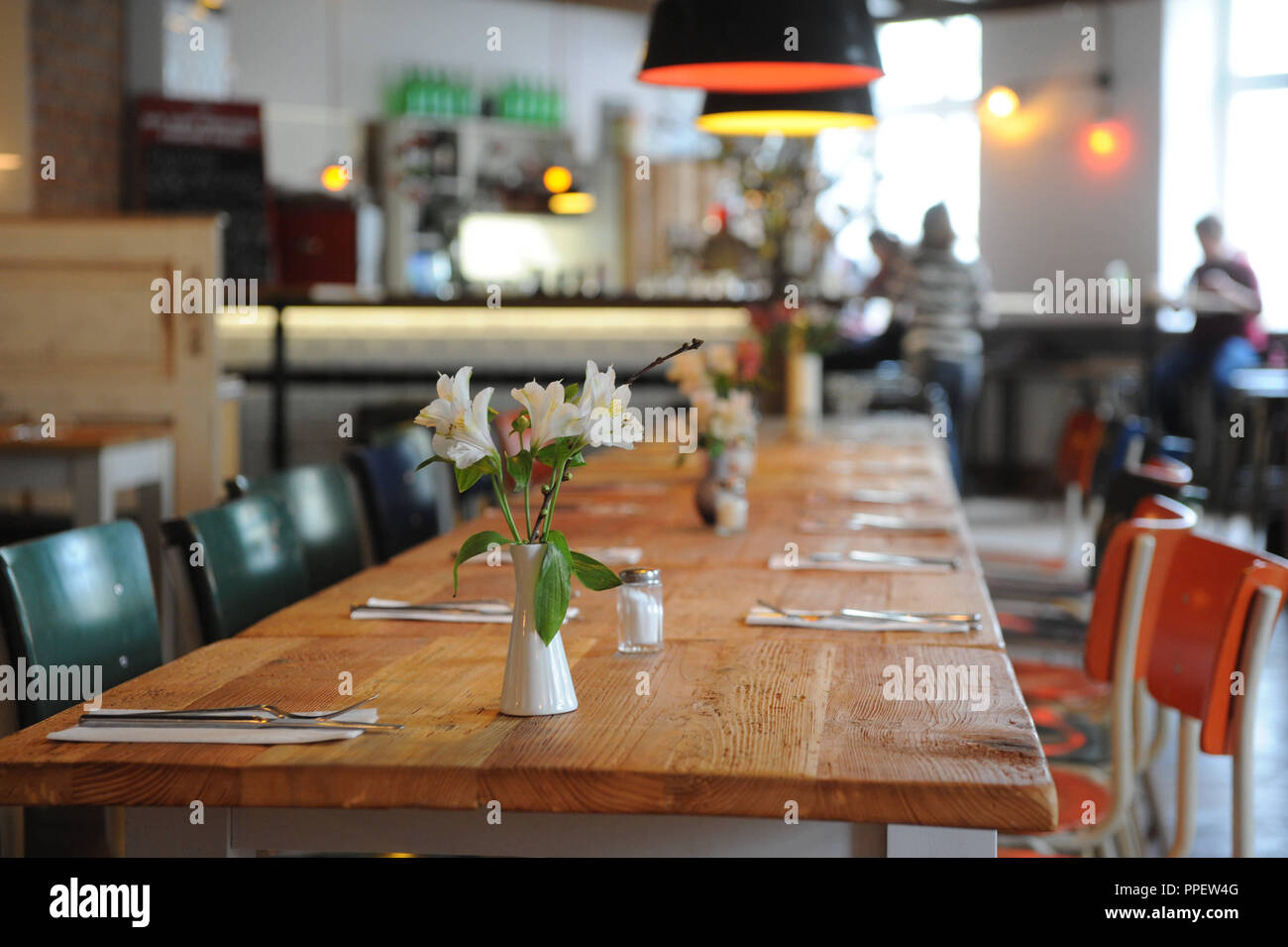Restaurant 'La Kaz' in the Kazmairstrasse on the Schwanthalerhoehe. - Stock Image