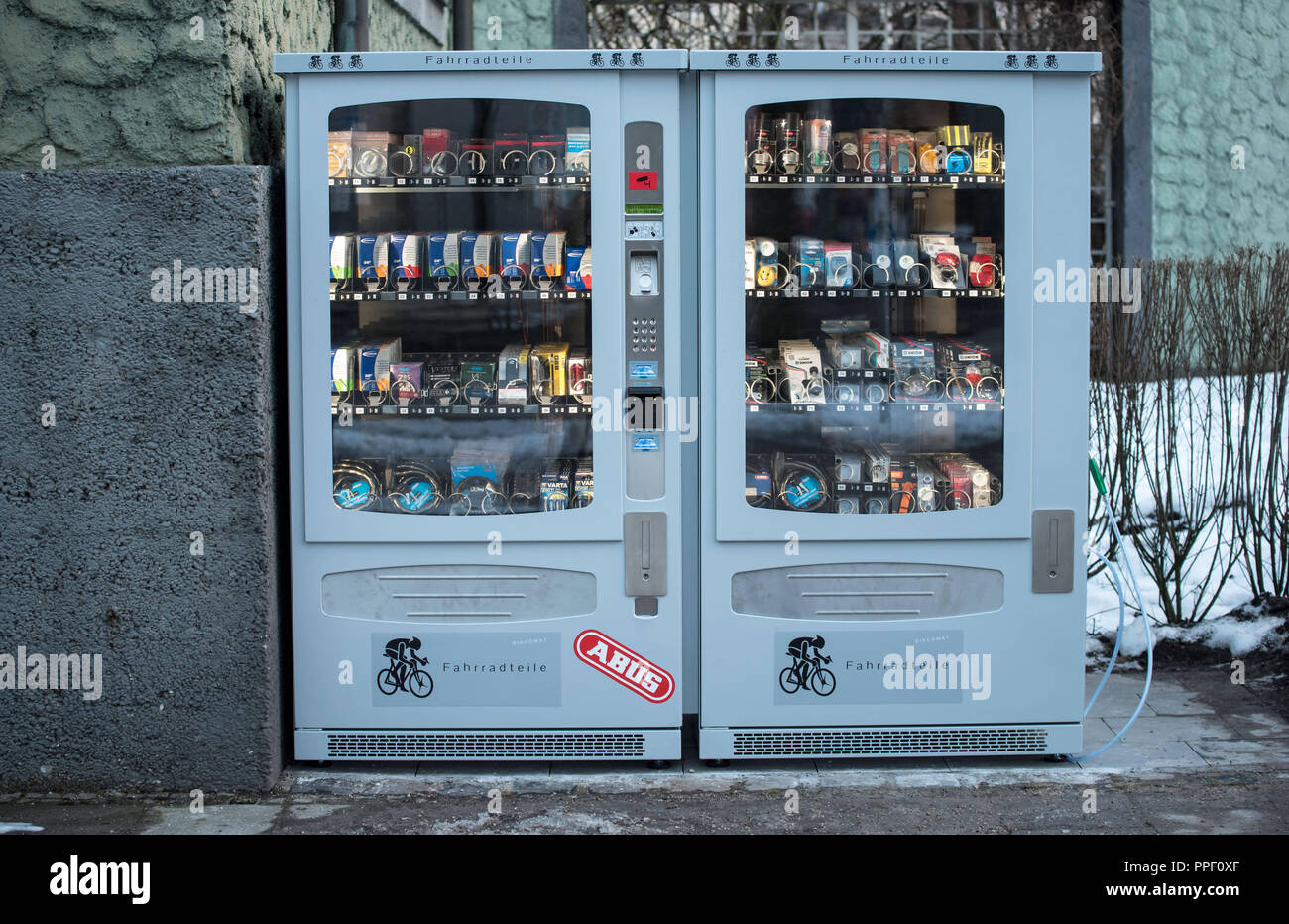 The Bike O Mat A Vending Machine With Spare Bicycle Parts In The