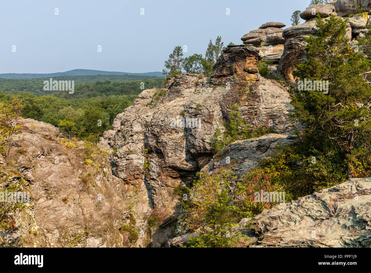Rock Formations Scenic Landscape - Stock Image