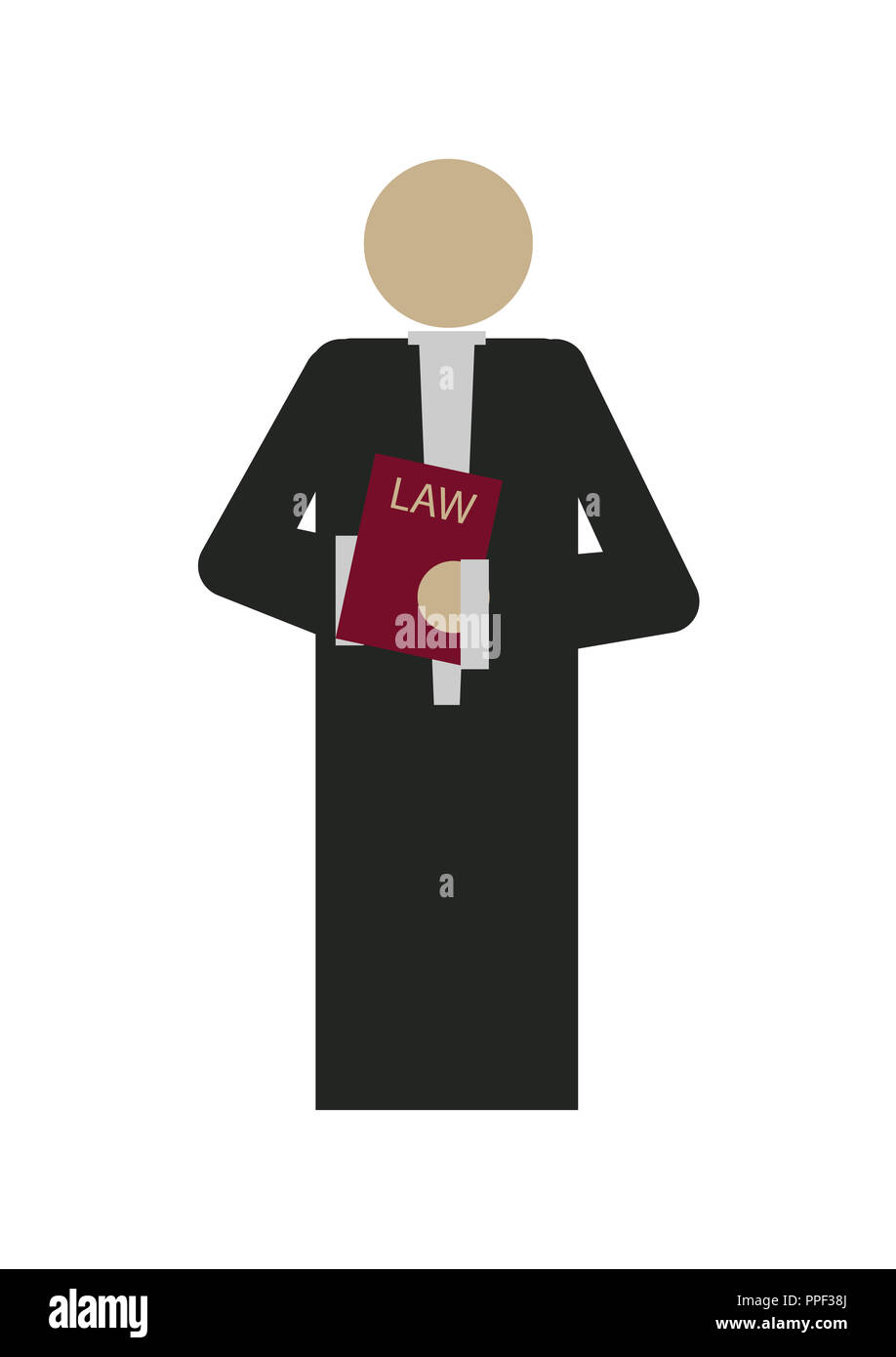 lawyer is holding the criminal code book - Stock Image