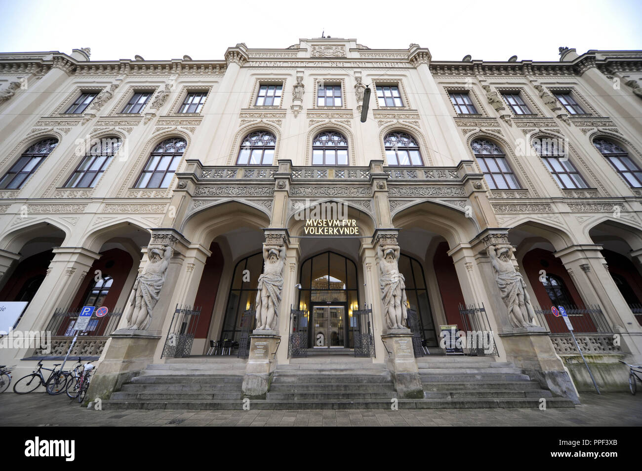 The State Museum of Ethnology in the Maximilianstrasse 42 in Munich. - Stock Image
