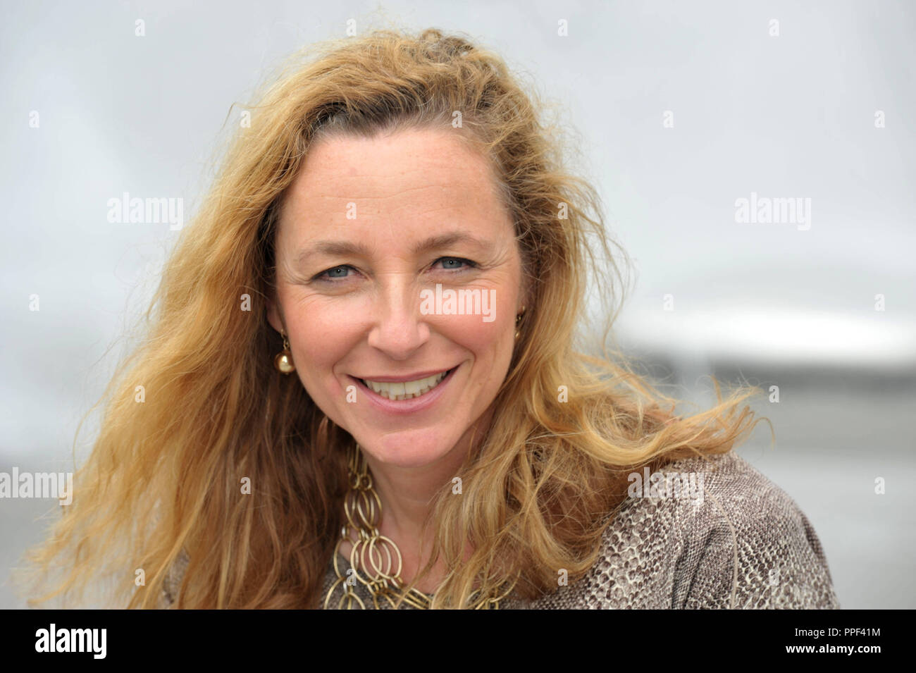 Diana Iljine, managing director of Muenchner Filmwochen and director of Filmfest Muenchen, pictured at the Stachus Fountain. - Stock Image