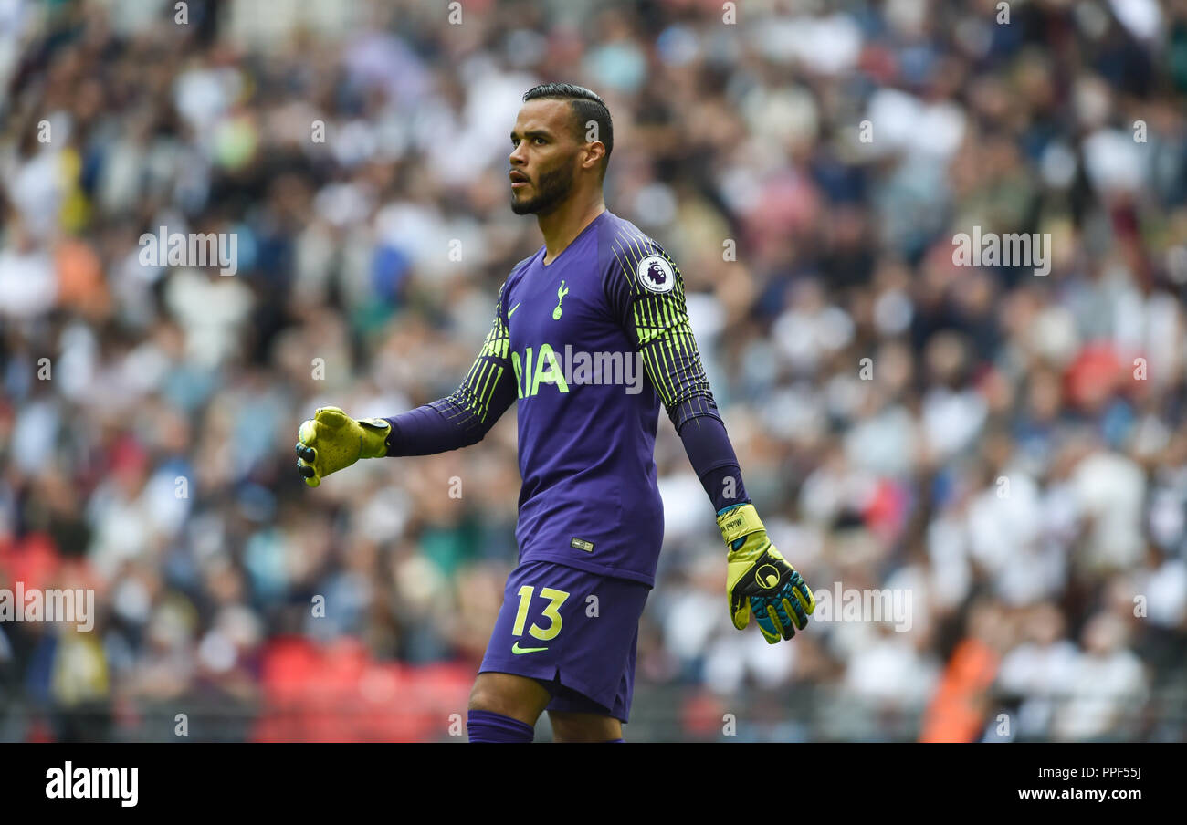 Michel Vorm of Spurs during the Premier League match between Tottenham Hotspur and Liverpool at Wembley Stadium , London , 15 Sept 2018 Editorial use only. No merchandising. For Football images FA and Premier League restrictions apply inc. no internet/mobile usage without FAPL license - for details contact Football Dataco - Stock Image