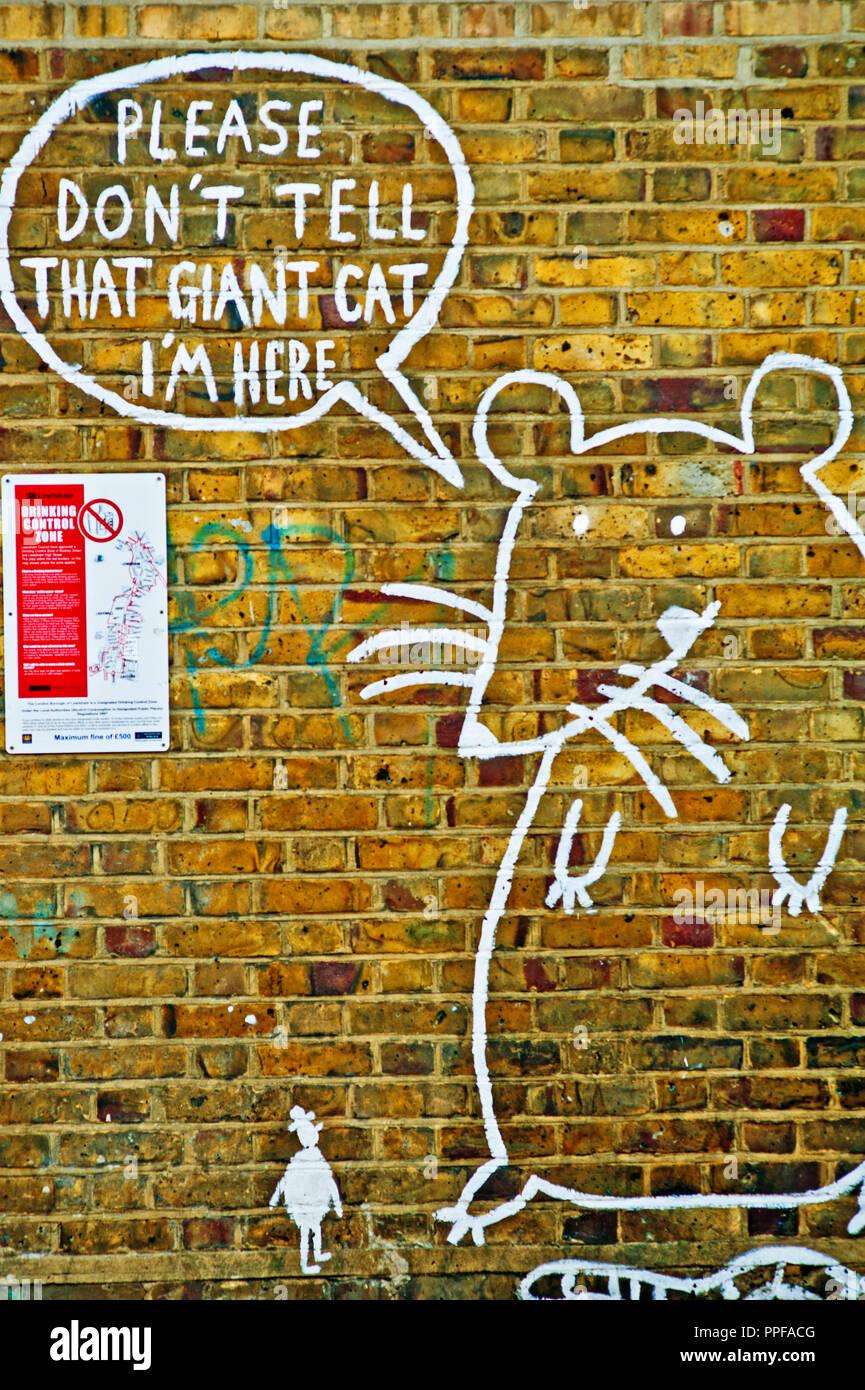 Rat Grafitti, Catford, Borough of Lewisham, London, England - Stock Image