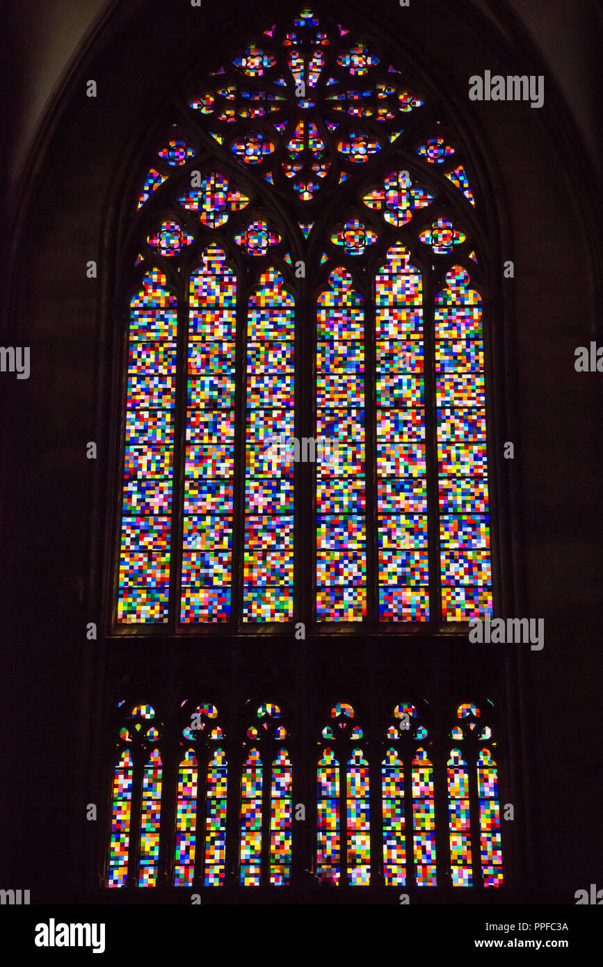 Koln Richter Fenster Modernes Kirchenfenster Im Kolner Dom Stock Photo Alamy