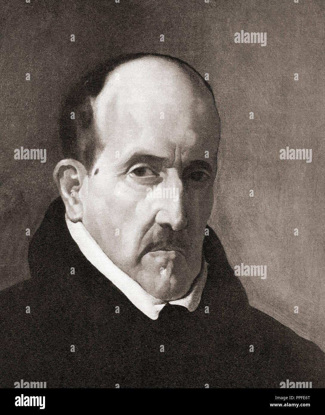 Luis de Góngora y Argote, born Luis de Argote y Góngora, 1561 – 1627.  Spanish Baroque lyric poet. - Stock Image