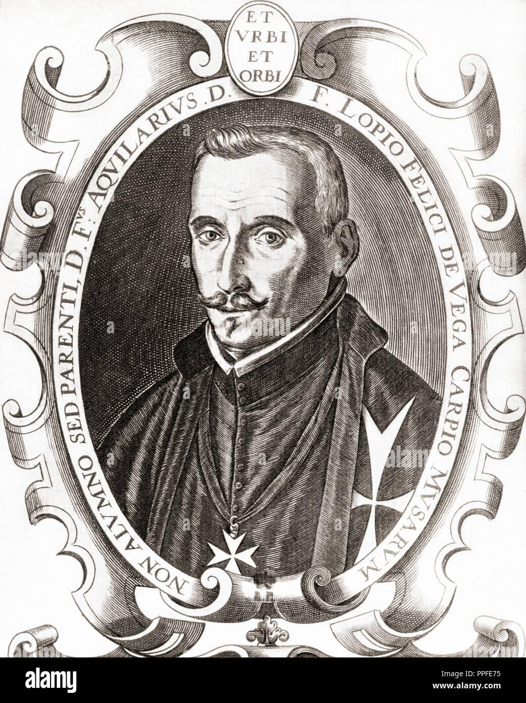 Lope Félix de Vega y Carpio, 1562 – 1635.  Spanish playwright, poet, novelist and marine. - Stock Image