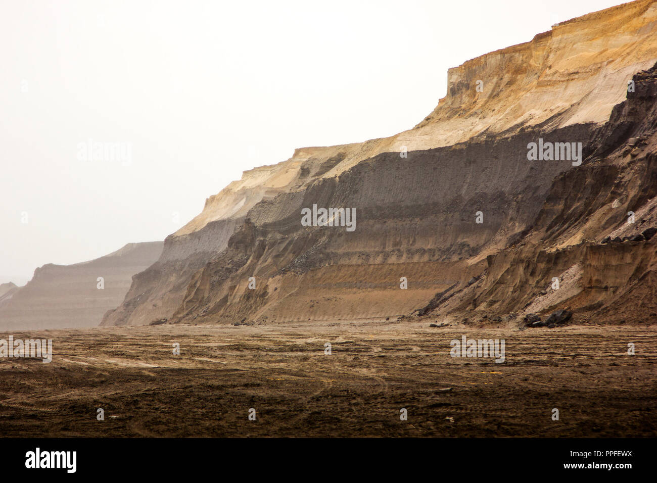 Coal opencast mining in Ruhr area, Germany - Stock Image