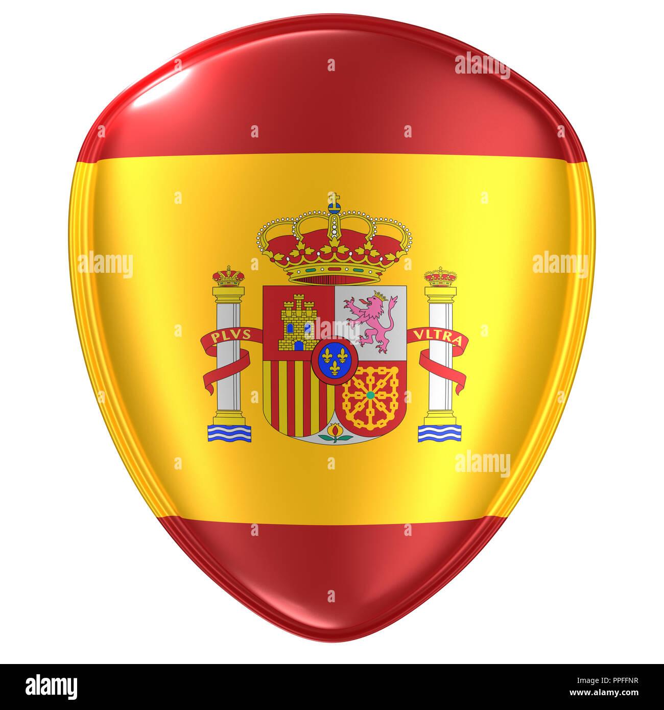 Spain Flag Icon Stock Photos Spain Flag Icon Stock Images Alamy