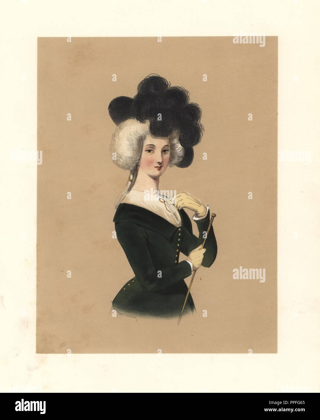 Dress Of The Reign Of George Iii 1760 1820 Woman In Black Hat With