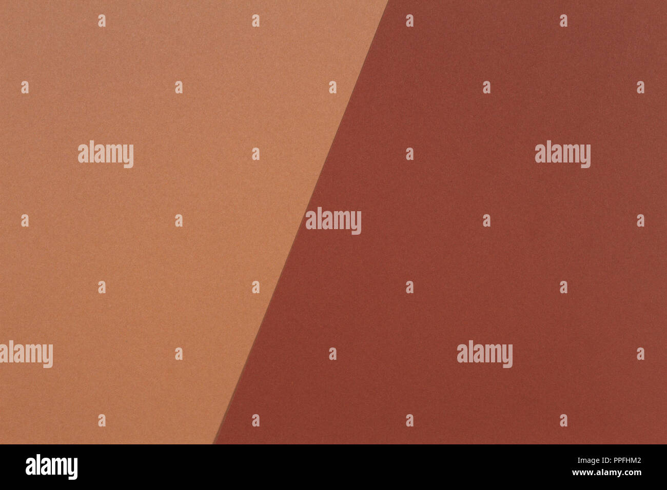 Color paper composition background with beige and brown tones - Stock Image