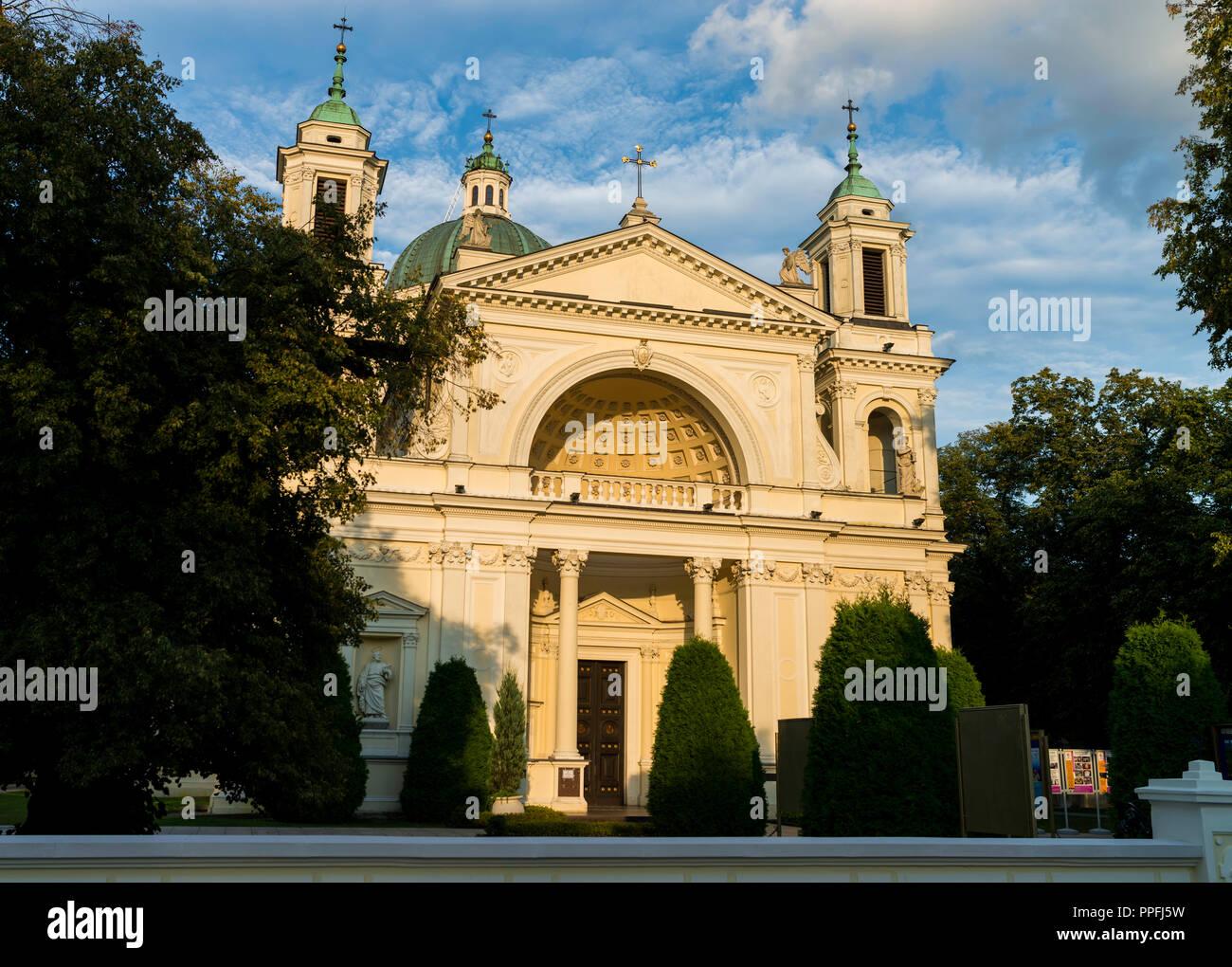 Church of St. Anna Wilanow - Stock Image