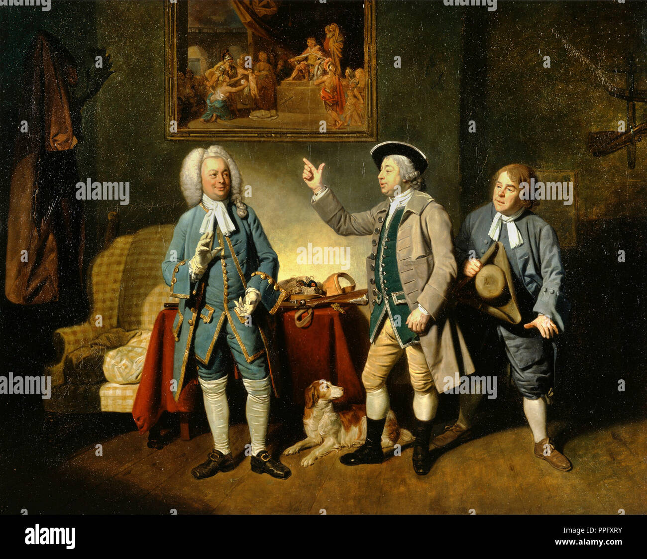 Johann Zoffany - Edward Shuter, John Beard, and John Dunstall in Isaac Bickerstaffe's 'Love in a Village'. 1767 Oil on canvas. Yale Center for British - Stock Image