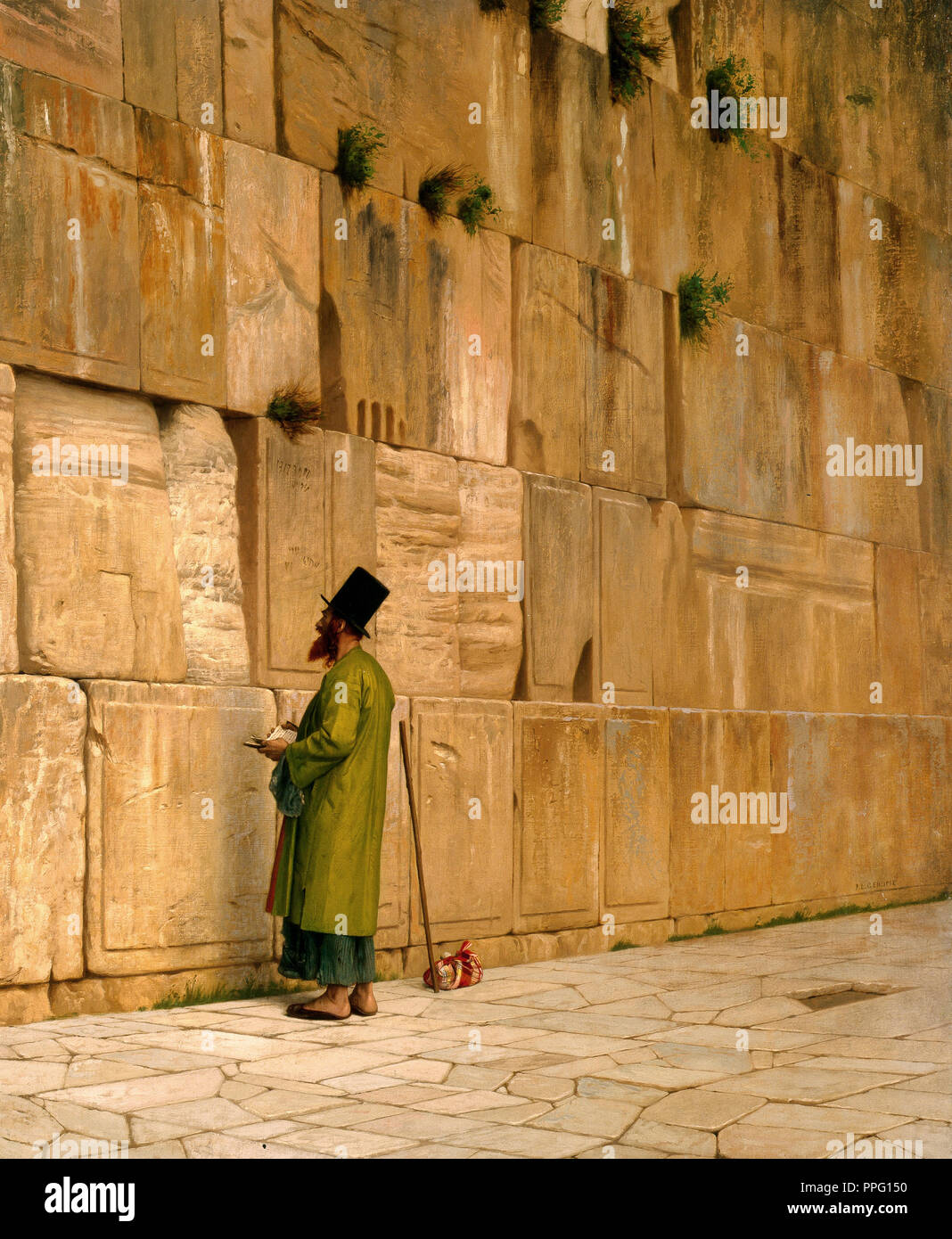 Jean-Leon Gerome, The Wailing Wall 1880 Oil on canvas. Israel Museum, Jerusalem, Israel. - Stock Image