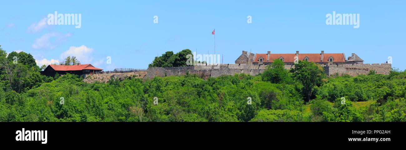 Fort Ticonderoga, from Lake Champlain. - Stock Image