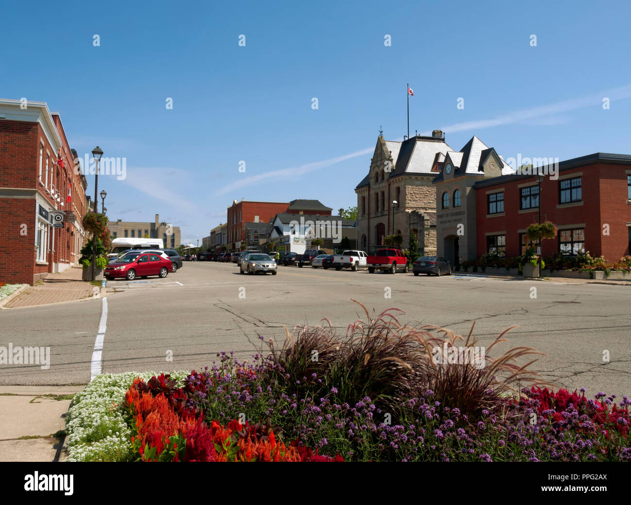 West Street, Goderich, Ontario - Stock Image