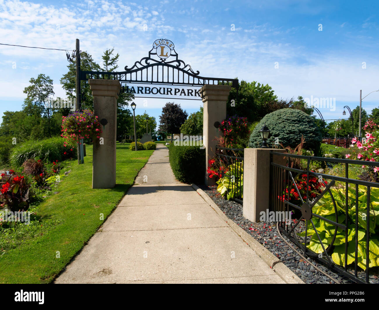 Entrance to Harbour Park, Goderich, Ontario - Stock Image
