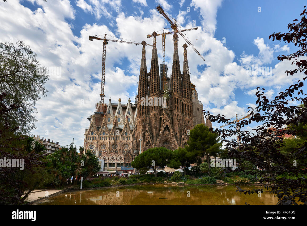 Basilica and Expiatory Church of the Holy Family in Barcelona - Stock Image