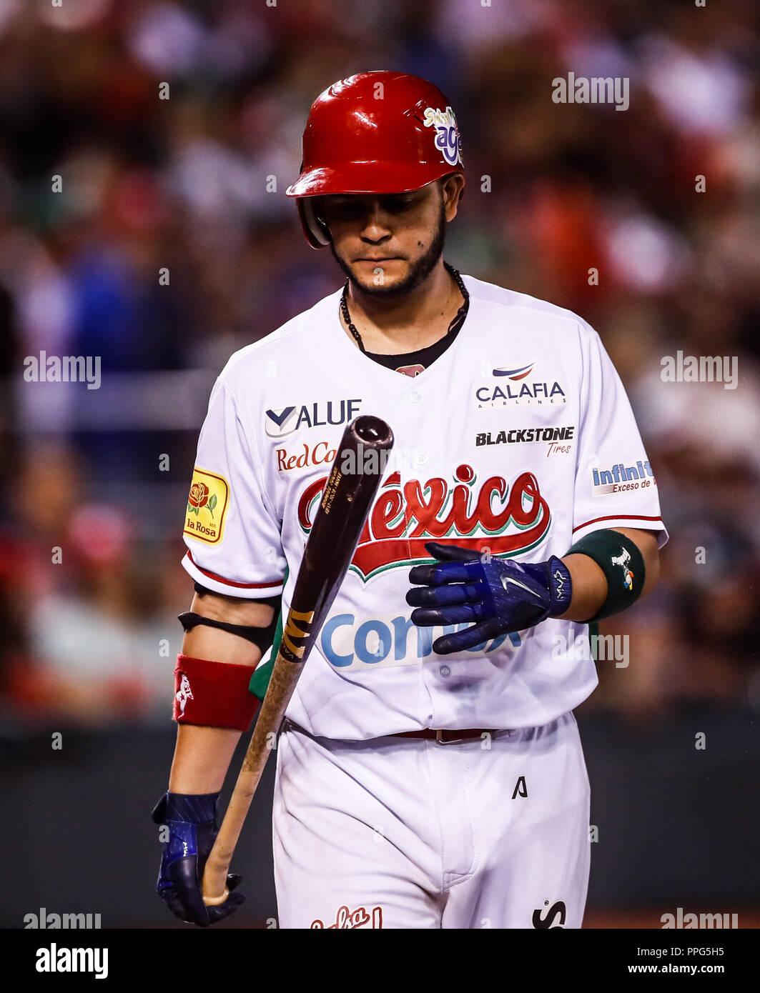 Walter Ibarra.. Acciones, durante el partido de beisbol de la Serie del Caribe con el encuentro entre Tomateros de Culiacan de Mexico contra los Car - Stock Image