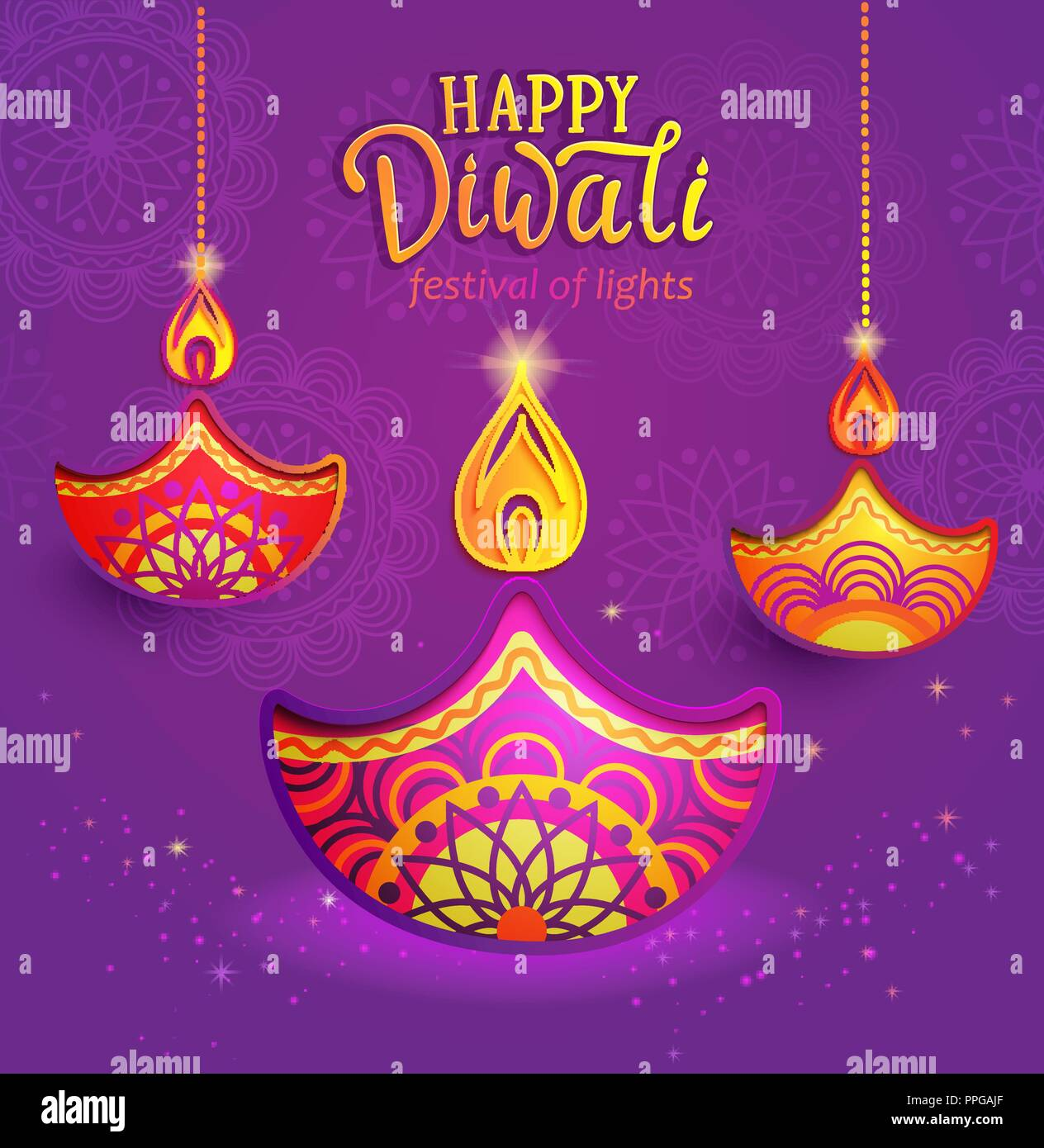 Banner For Happy Diwali Greeting Card For Indian Festival With