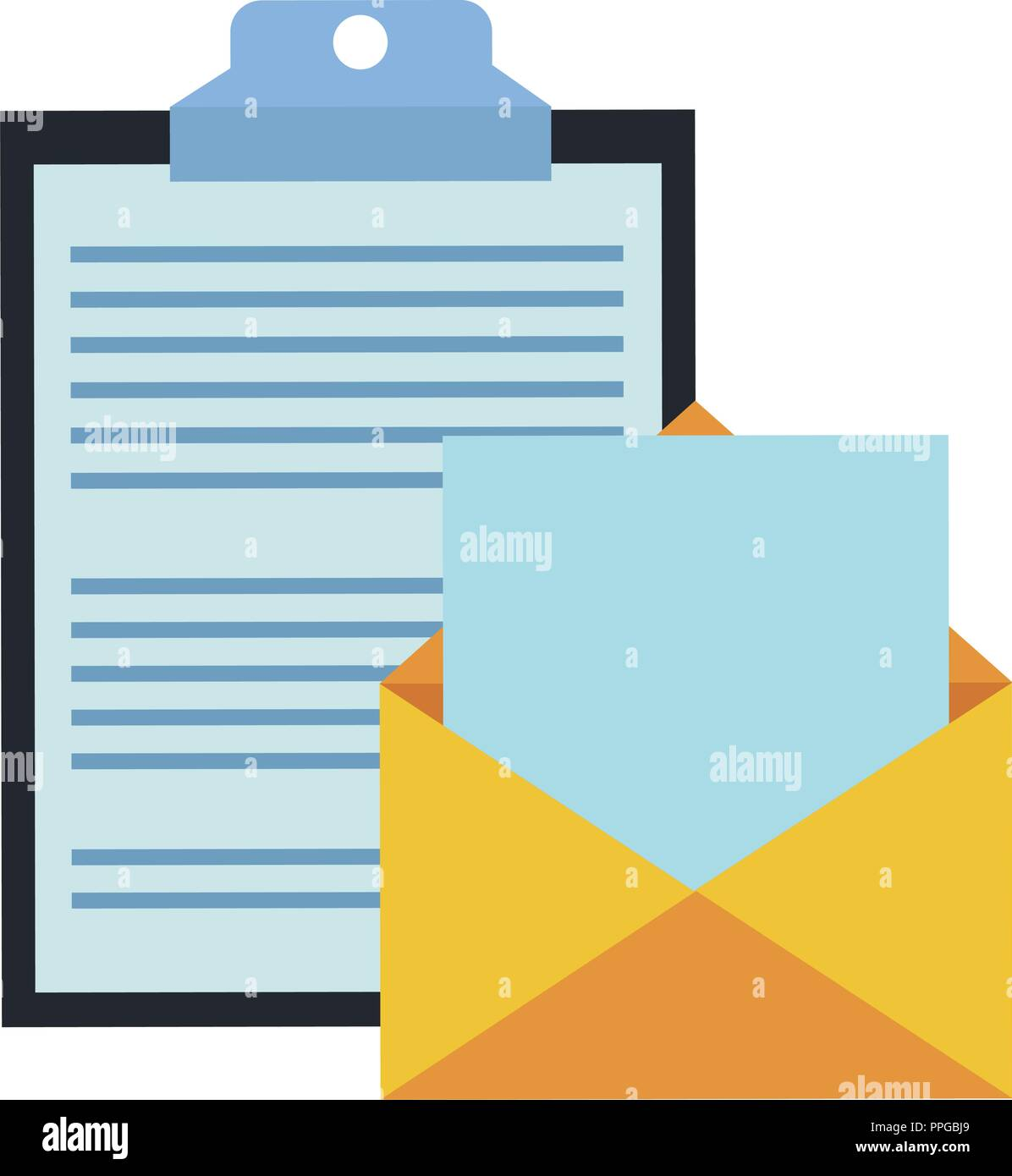 Clipboard and email - Stock Image