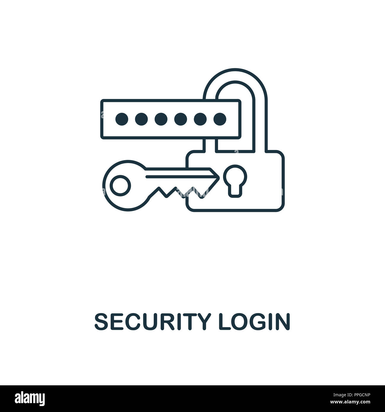 Security Login outline icon  Premium design from web