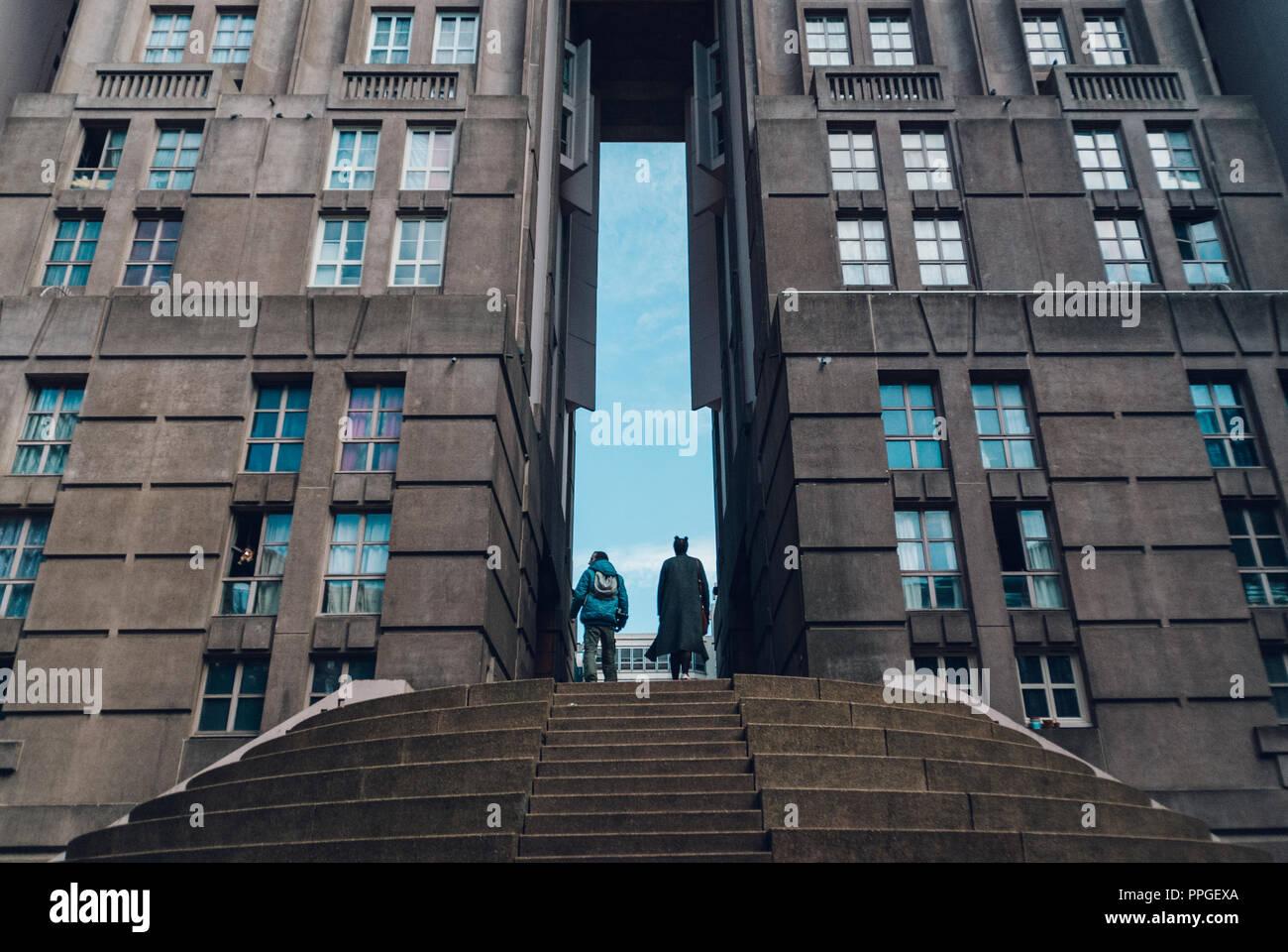 Noisy Le Grand Architecture noisy le grand. paris, france. october 2016 stock photo