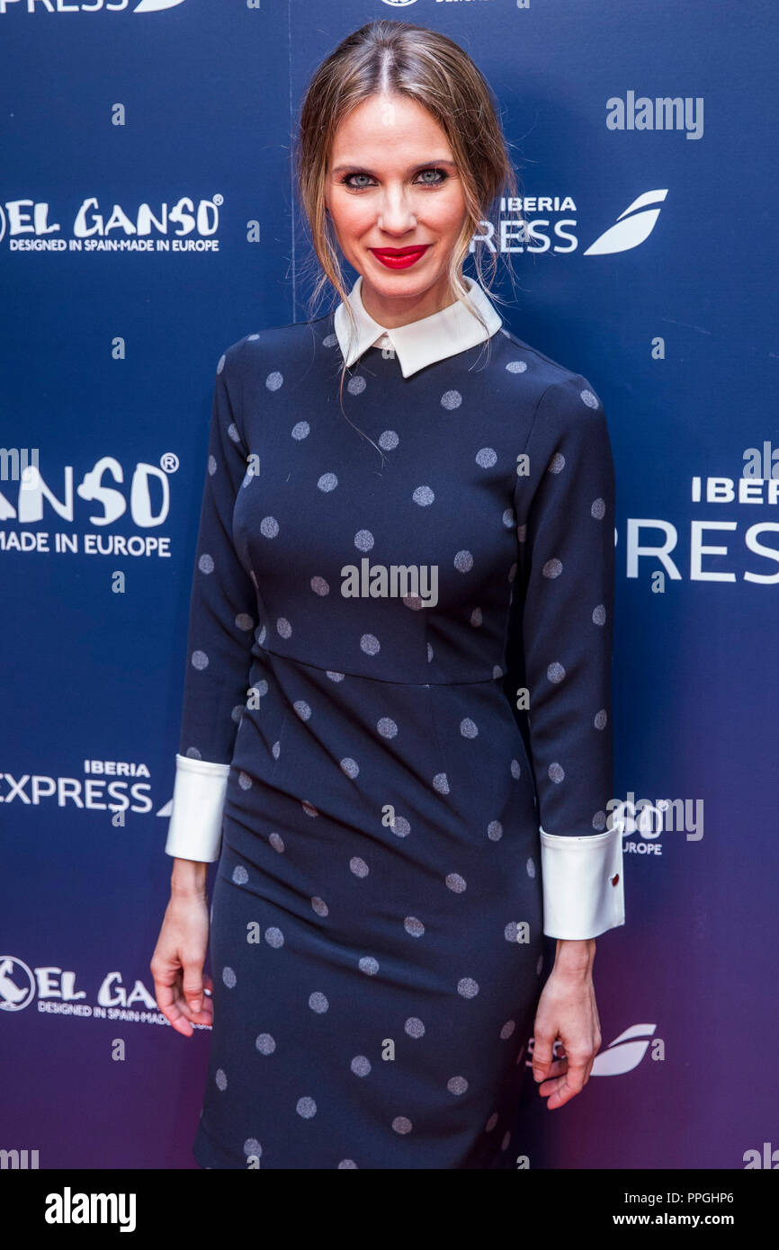 Vanesa Romero during the presentation of the new uniforms of Iberia Express designed by El Ganso in Madrid, Spain. November 02, 2016. (ALTERPHOTOS/Rod - Stock Image