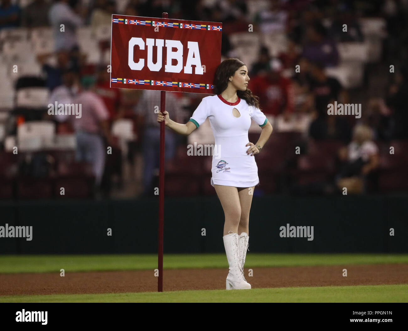 Aspects of the inauguration before the star game with the local team of Mexico vs Puerto Rico, during Caribbean Series game in Culiacan, Mexico, Wedne - Stock Image