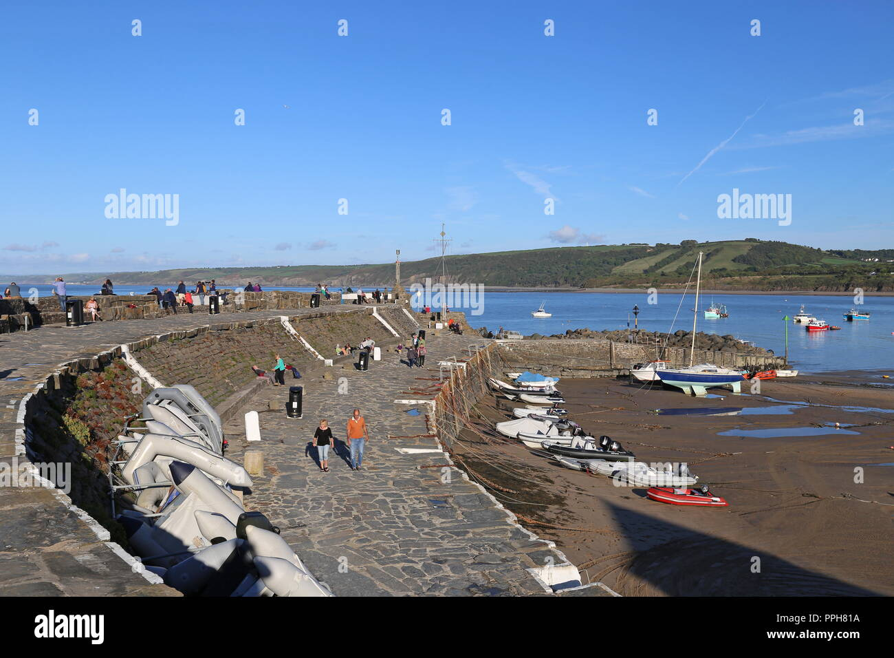 New Quay Harbour, Cardigan Bay, Ceredigion, Wales, Great Britain, United Kingdom, UK, Europe - Stock Image