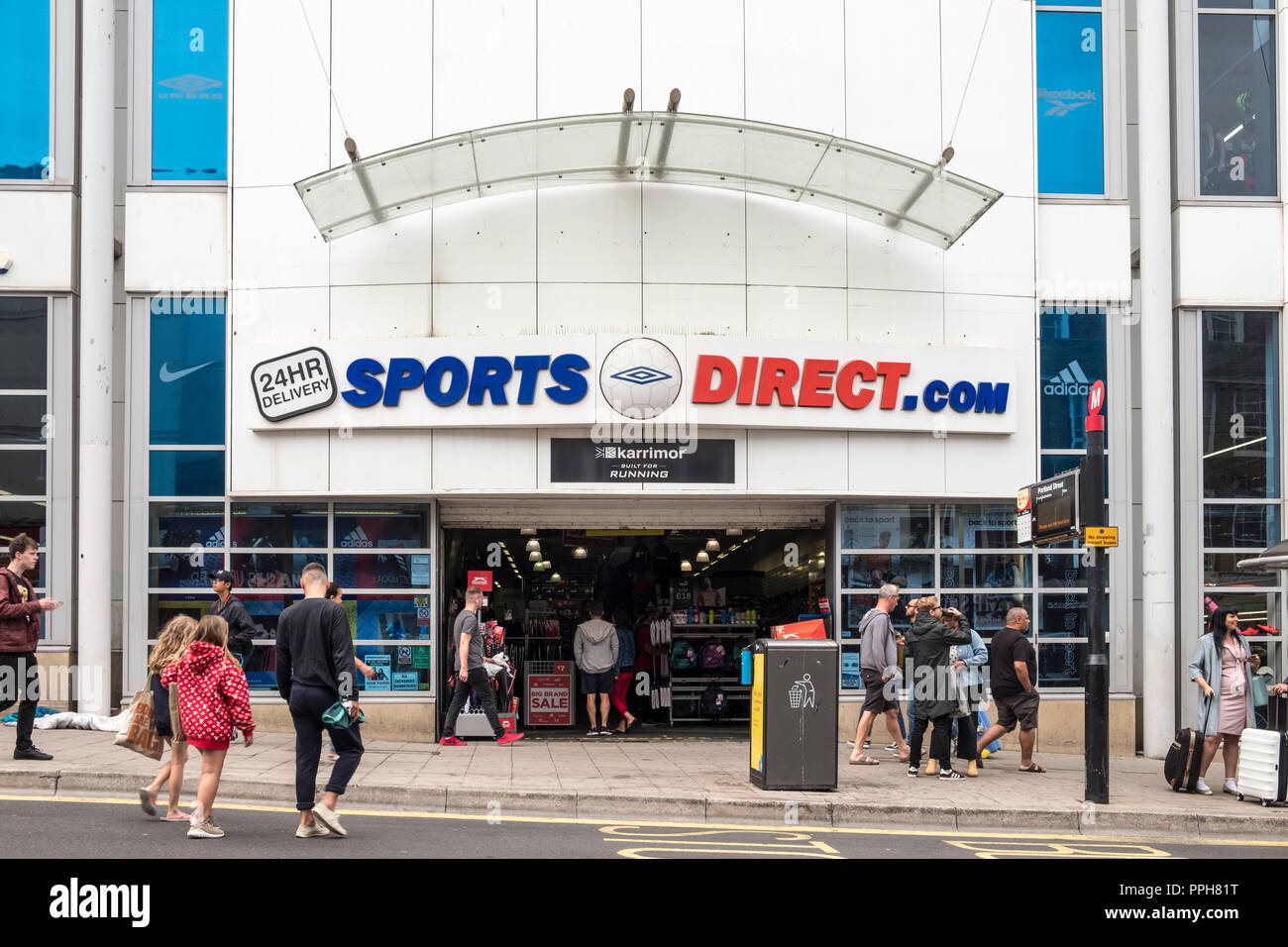 Sports Direct store, Brighton, Sussex, England, GB, UK Stock Photo
