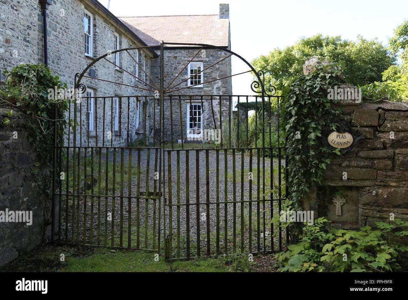 Plas Llanina, Dylan Thomas Trail, New Quay, Cardigan Bay, Ceredigion, Wales, Great Britain, United Kingdom, UK, Europe - Stock Image