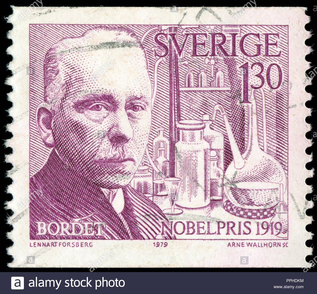 Postmarked Stamp From Sweden In The Nobel Prize Winners 1919 Series Issued 1979