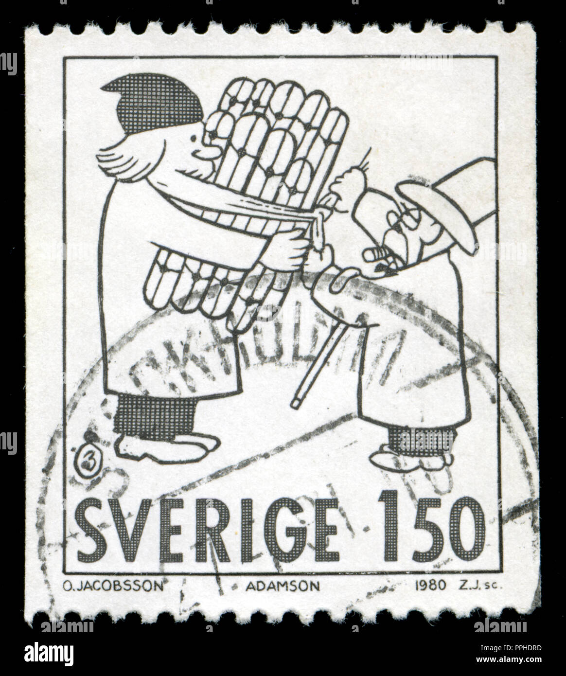 1980 post stock photos 1980 post stock images alamy Winter Olympics 2014 postmarked st from sweden in the christmas 1980 swedish ic strips series stock image