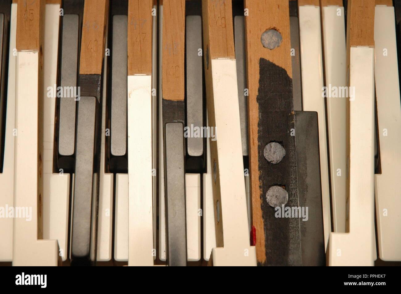 Disassembled Piano Keys - Stock Image
