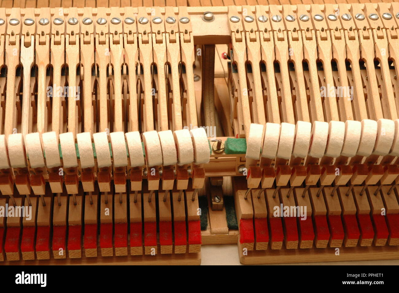 Disassembled Piano Action Hammers - Stock Image