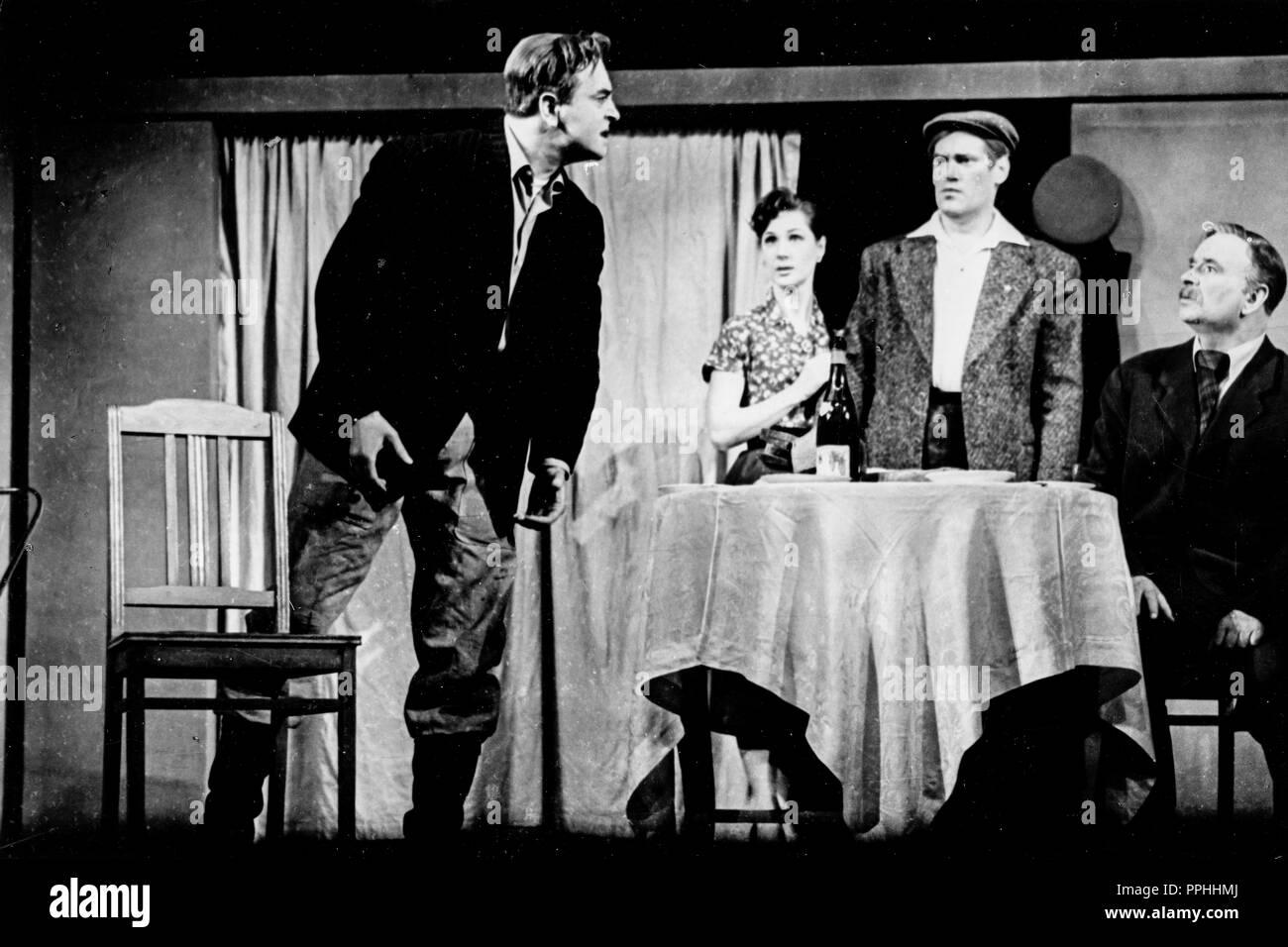 yuri lyubimov, nina nekhlopochenko, mikhail dadyko, nikolai plotnikov, an irkutsk story, 1962 - Stock Image
