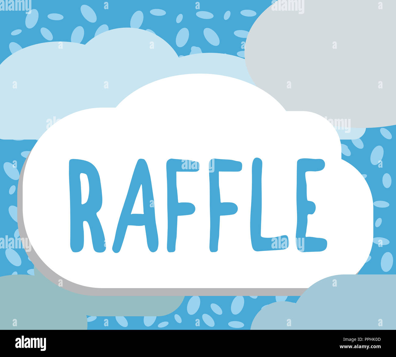 writing note showing raffle business photo showcasing means of