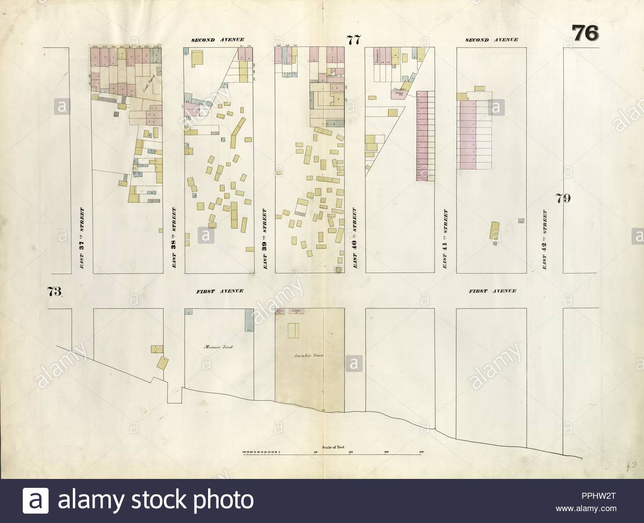Plate 76 Map Bounded By East 42nd Street East River East 37th